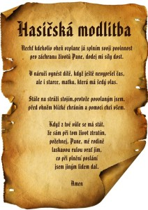 Hasičská modlitba